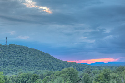 Summer sunset view from Mountain View Gardens, Ulster Park, New York