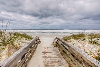 Atlantic Ocean, Crescent Beach, Florida, USA
