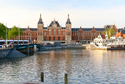 Central Station - the main train station in Amsterdam, dates from the late 1800s