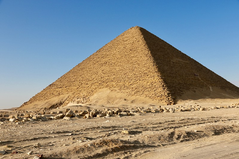 "Red Pyramid is the world's oldest ""true"" (as opposed to ""step"") pyramid constructed circa 2600BC"