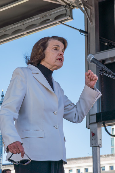 Diane Feinstein at the Students March Against Gun Violence