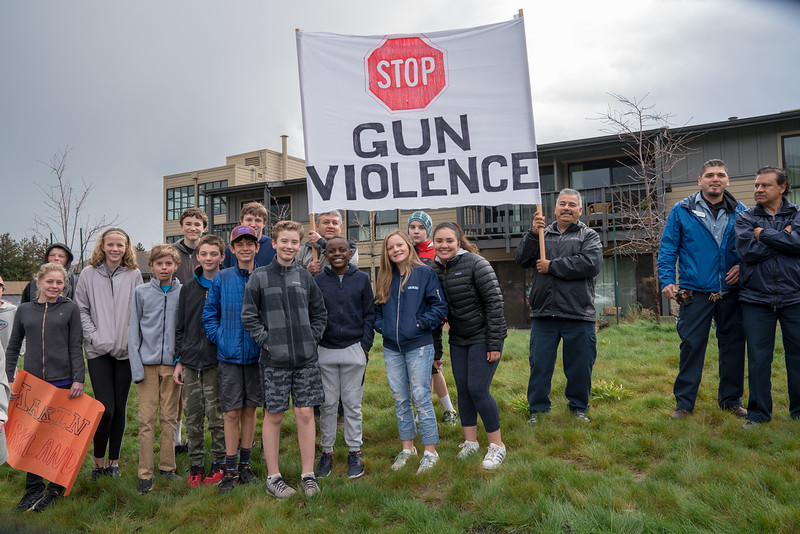 Mill Valley Schools' Walkout Against Gun Violence