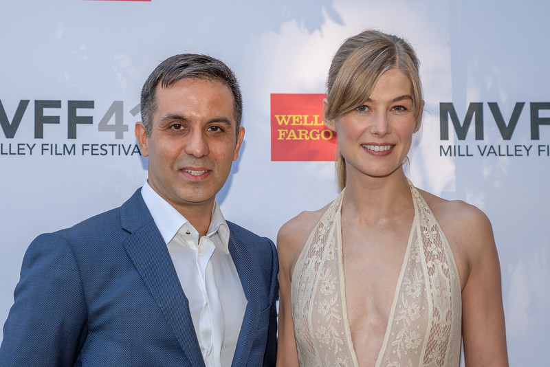 Writer Arash Amel and Actress Rosamund Pike (Private War) - 41st Mill Valley Film Festival