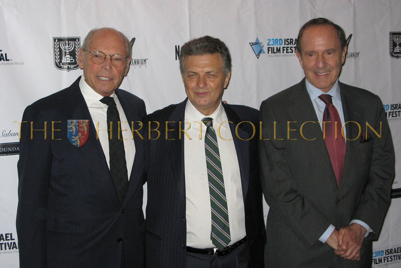 Irwin Winkler, IFF Founder and Director Meir Feningstein, Mort Zuckerman