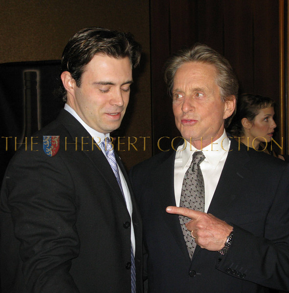 a fan talking to Michael Douglas