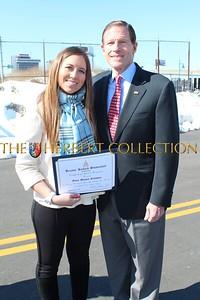 Alana Galloway and US Senator Richard Blumenthal