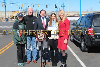 Sonya Finch and husband, Mayor Bill Finch, Bridgeport, CT., US Senator Richard Blumenthal, Alana Galloway, Sara Herbert-Galloway