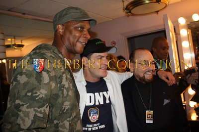 """Darryl Strawberry, Charlie Sheen and James Lipton, 'The Actors Studio'  backstage, Radio City Music Hall  after Charlie Sheen's 'Violent Torpedo of Truth, Defeat is Not an Option Show 2011"""""""
