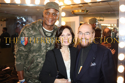 Darryl Strawberry, Kedakai and James Lipton, 'The Actors Studio'  backstage, Radio City Music Hall  after Charlie Sheen's 'Violent Torpedo of Truth, Defeat is Not an Option Show 2011""