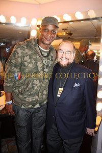 Darryl Strawberry and James Lipton, 'The Actors Studio'  backstage, Radio City Music Hall  after Charlie Sheen's 'Violent Torpedo of Truth, Defeat is Not an Option Show 2011""