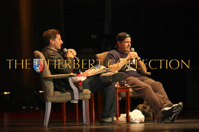 Simon Rex interviews Charlie Sheen at Radio City Music Hall during his 'Violent Torpedo of Truth/Defeat is Not an Option Tour 2011""