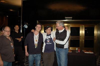 "Matt Klarberg,Charlie Sheen, Barry Klarberg (business manager), Radio City Music Hall  after Charlie Sheen's 'Violent Torpedo of Truth, Defeat is Not an Option Show 2011"""