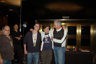 Matt Klarberg,Charlie Sheen, Barry Klarberg (business manager), Radio City Music Hall  after Charlie Sheen's 'Violent Torpedo of Truth, Defeat is Not an Option Show 2011""