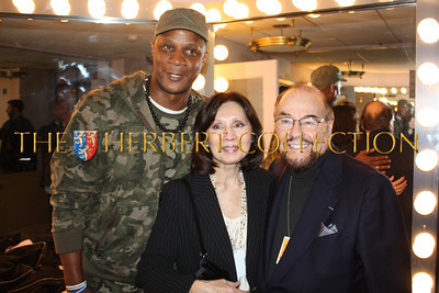 Darryl Strawberry and Kedakai and James Lipton, 'The Actors Studio'  backstage, Radio City Music Hall  after Charlie Sheen's 'Violent Torpedo of Truth, Defeat is Not an Option Show 2011""