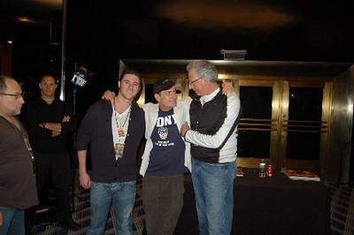 "Matt Klarberg, Charlie Sheen, Barry Klarberg (business manager), Radio City Music Hall  after Charlie Sheen's 'Violent Torpedo of Truth, Defeat is Not an Option Show 2011"""