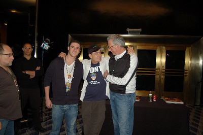 Matt Klarberg, Charlie Sheen, Barry Klarberg (business manager), Radio City Music Hall  after Charlie Sheen's 'Violent Torpedo of Truth, Defeat is Not an Option Show 2011""