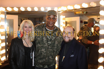"""Sara Herbert-Galloway, Darryl Strawberry and James Lipton, 'The Actors Studio'  backstage, Radio City Music Hall  after Charlie Sheen's 'Violent Torpedo of Truth, Defeat is Not an Option Show 2011"""""""