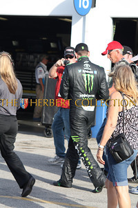 Kyle Busch in Monster racing suit...coolest suit at the track!