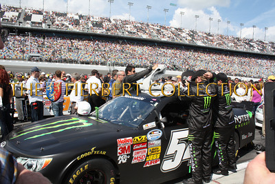Kyle Busch and his Monster car getting ready to race in Nationwide race at Daytona