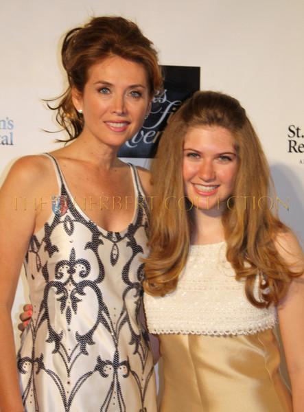 Committee member, model; Belinda Johnson and daughter Sara Siegel