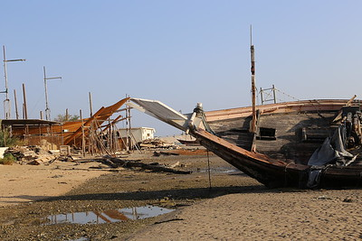 Wooden Dhow ship yards, Sur, Oman
