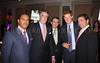 H.E. Ambassador Francis Lorenzo, guest, Richard Lukaj, Prince Harry of Wales and Ronald H. Posyton