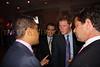 US Ambassador Frances Lorenzo of the Dominican Republic speaks with Prince Harry as host, Richard Lukaj looks on
