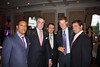 H.E. Ambassador Francis Lorenzo, guest, Richard Lukaj (Hosting event from Bank Street Group), Prince Harry of Wales and Ronald H. Posyton