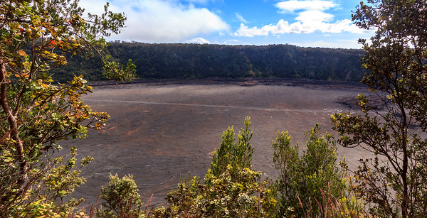 Another overview of the trail through the crater - can you see the tiny people on it???