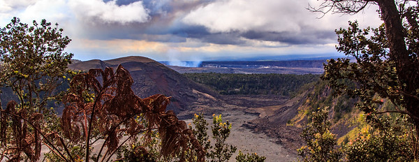 Another overlook of the crater, and the smoke from the volcano in the distance.