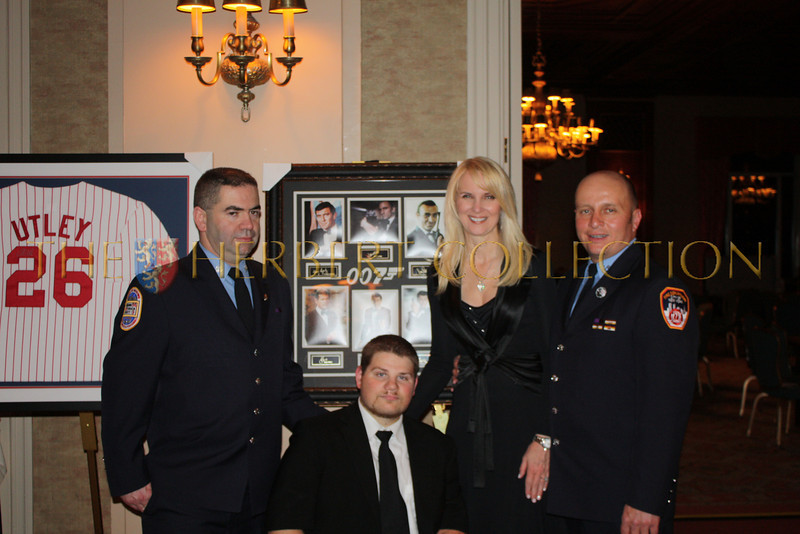Firefighters with Nick Springer and Sara Herbert-Galloway