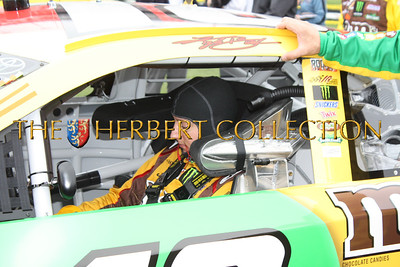 Kyle Busch getting ready to race in the Daytona 500