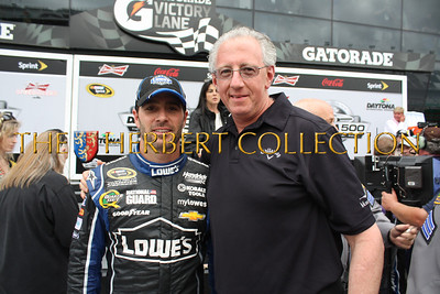 Jimmie Johnson and Barry Klarberg