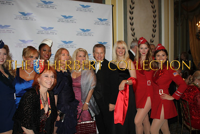 Front: Dr. Judy Kuriansky, Bertie, Liberty Bell, Lauren Lawrence, Rita Cosby, Tomaczek Bednarek, Sara Herbert-Galloway and The USO's Liberty Bells