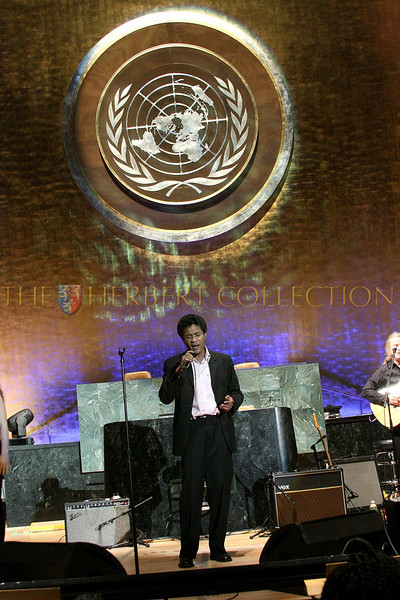NEW YORK - MARCH 17:  Musician Njakatiana performs on stage at the MDG Awards global launch event at the United Nations building on March 17, 2009 in New York City.  (Photo by Steve Mack/S.D. Mack Pictures) *** Local Caption *** Njakatiana