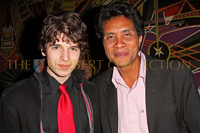 NEW YORK - MARCH 17:  Justin Pierce Galloway and Musician Njakatiana attend the MDG Awards global launch event at the United Nations building on March 17, 2009 in New York City.  (Photo by Steve Mack/S.D. Mack Pictures) *** Local Caption *** Justin Galloway; Njakatiana