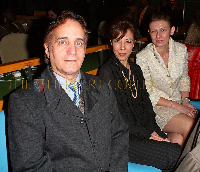 NEW YORK - MARCH 17:  James Cavello; President of The Worldwide Childrens Foundation of New York,  Margarite Almeida and Daniela Zahradnikova attend the MDG Awards global launch event at the United Nations building on March 17, 2009 in New York City.  (Photo by Steve Mack/S.D. Mack Pictures) *** Local Caption *** James Cavello; Margarite Almeida; Daniela Zahradnikova
