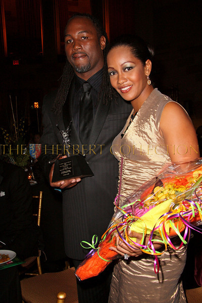 New York - November 6: Lennox Lewis and wife Violet Chang at The American Friends of Jamaica's 27th Annual Gala and Auction at Gotham on Thursday, November 6, 2008 in New York, NY.  (Photo by Steve Mack/S.D. Mack Pictures)