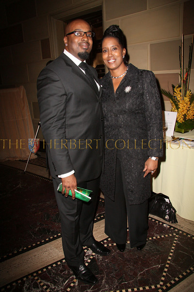 New York - November 6: Ru-El Burford and Patricia Buford at The American Friends of Jamaica's 27th Annual Gala and Auction at Gotham on Thursday, November 6, 2008 in New York, NY.  (Photo by Steve Mack/S.D. Mack Pictures)