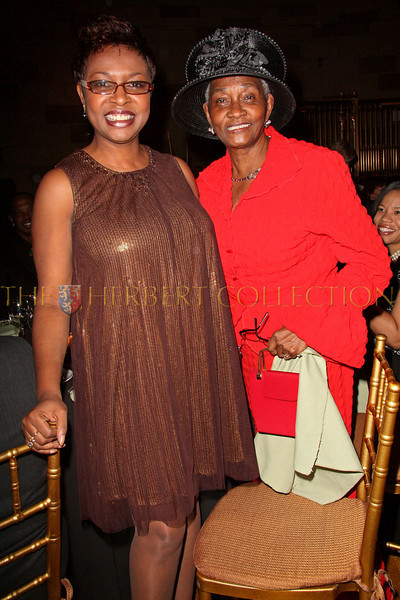 New York - November 6: Congresswoman Yvette Clarke and Former New York City Councilwoman Una Clarke at The American Friends of Jamaica's 27th Annual Gala and Auction at Gotham on Thursday, November 6, 2008 in New York, NY.  (Photo by Steve Mack/S.D. Mack Pictures)
