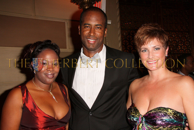New York - November 6: Imosie Joseph Coke, Douglass Gordon and Debra Lopez at The American Friends of Jamaica's 27th Annual Gala and Auction at Gotham on Thursday, November 6, 2008 in New York, NY.  (Photo by Steve Mack/S.D. Mack Pictures)