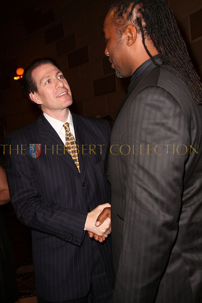 New York - November 6: Lennox Lewis (R) and guest at The American Friends of Jamaica's 27th Annual Gala and Auction at Gotham on Thursday, November 6, 2008 in New York, NY.  (Photo by Steve Mack/S.D. Mack Pictures)