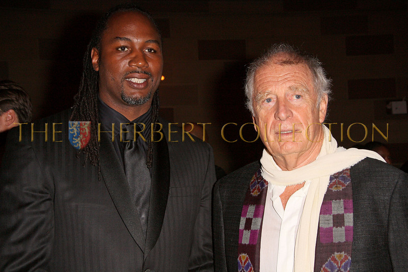 New York - November 6: Lennox Lewis and Chris Blackwell at The American Friends of Jamaica's 27th Annual Gala and Auction at Gotham on Thursday, November 6, 2008 in New York, NY.  (Photo by Steve Mack/S.D. Mack Pictures)