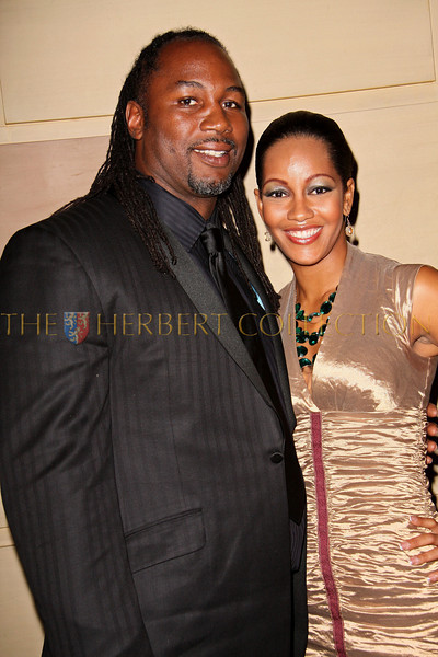 New York - November 6: Lennox Lewis with wife Violet Chang at The American Friends of Jamaica's 27th Annual Gala and Auction at Gotham on Thursday, November 6, 2008 in New York, NY.  (Photo by Steve Mack/S.D. Mack Pictures)
