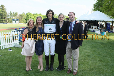 "Cathy Ferrier CEO Sentebale, Nacho Figueras "" Sentebale Ambassador "" center, with Team Sentebale"