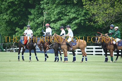 Prince Harry's Sentebale Land Rover Team: Michael Carrazza, Malcolm Borwick, Marc Ganzi and Prince Harry Peter Brant referee