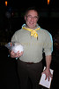 President and Board of Director Mike Caplin wins NY Jets autographed football from raffle
