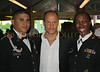 Members of armed forces with Woody Harrelson