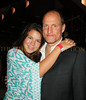 "Proud daughter, Deni Harrelson gives father  Woody Harrelson a big hug after seeing his new movie ""The Messenger"""