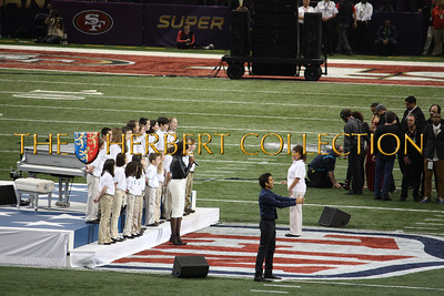 26, 4th grade chorus students from Sandy Hook Elementary School, Newtown CT joined Jennifer Hudson singing 'America the Beautiful'